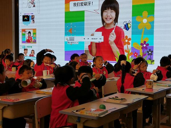 廖传明名师工作室送教桂林小学